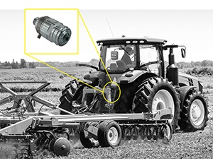 Tractor rear lines - connection and disconnection with male and female under pressure
