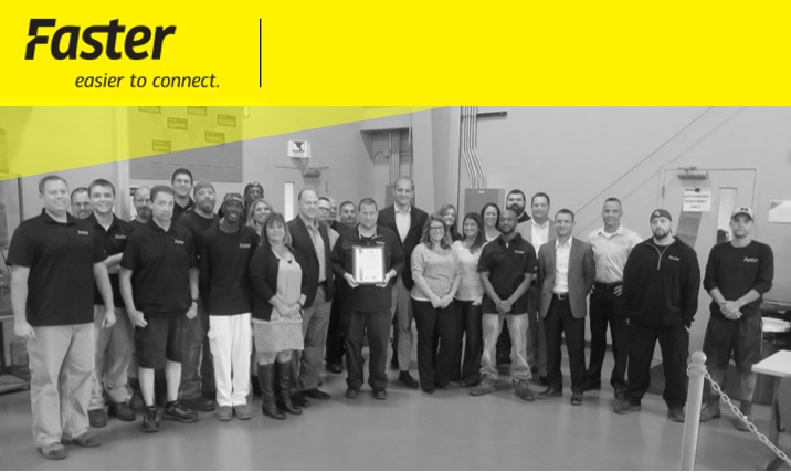 Faster Inc certification to ISO 9001:2015