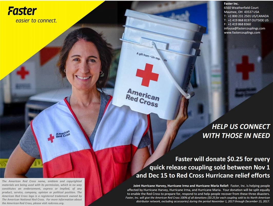 Faster and American Red Cross - Donation for Hurricane Relief