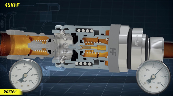 HF: Compact High Flow push-pull couplings