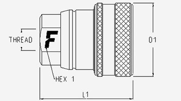 Faster Coupling 3CFPV 7//1815 F ISO A Steel Female 1//2 x M18X1.5 Male Thread