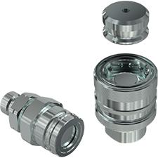 Female 1//2 x M26X1.5 Male Thread Faster Coupling CVV082//2615 FV German Screw Type Steel Viton Seal